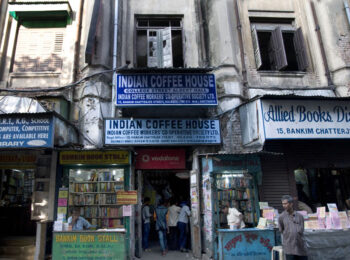 The College Street Coffee House in Kolkata, opened in 1942, is housed inside an old building with bookshops all around. Photo: Sugato Mukherjee