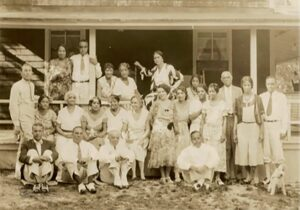 Shearer Cottage Guests, early 20th century. African American Heritage Trail of Martha's Vineyard. Photo courtesy Lee vanAllen/Shearer Family with permission from the National Trust for Historic Preservation