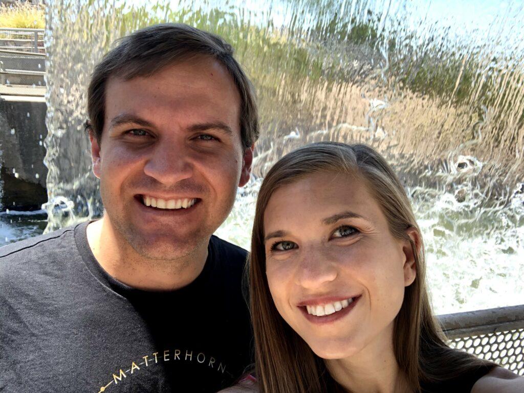 Ben and Breana Johnson at the Arizona Falls