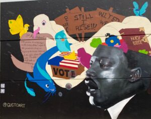 The M. L. King Jr. Mural is the largest of Chattanooga Murals. Photo: Terri Marshall