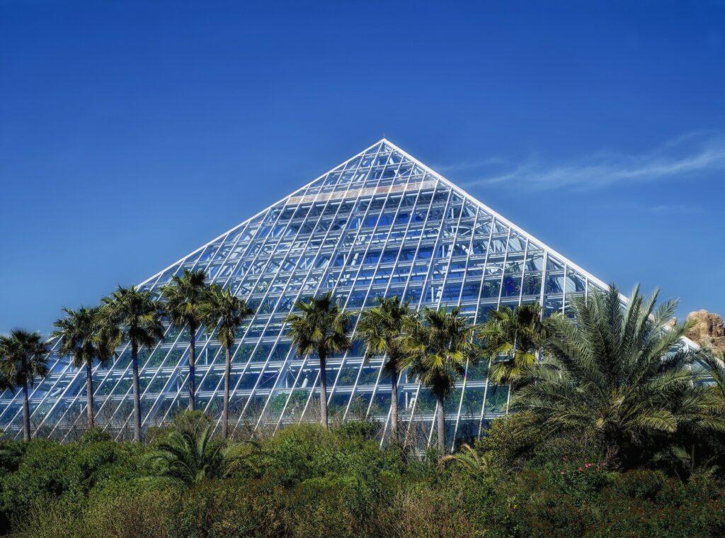 Pyramid at Moody Gardens.