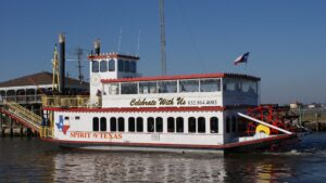 Spirit of Texas paddle wheel historic boat tour in Galveston, Texas