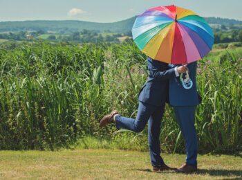 rainbow gay couple