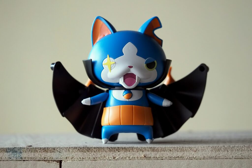This Japanese bat character toy is based on yokai folklore.
