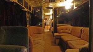 Inside Alabama's touring bus. Photo: Kathleen Walls