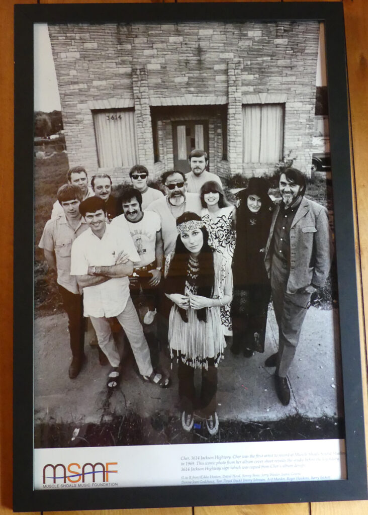 Cher pictured  in photo at Muscle Shoals. Photo: Kathleen Walls