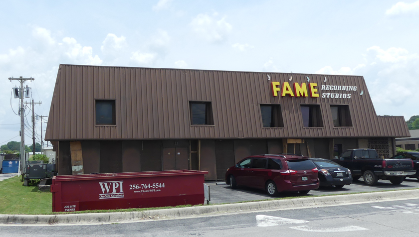The outside of the Florence Alabama Music Enterprises or FAME. Photo by Kathleen Walls