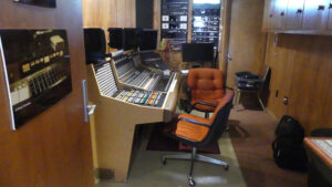 Instrument panel inside the studio at Muscle Shoals. Photo: Kathleen Walls
