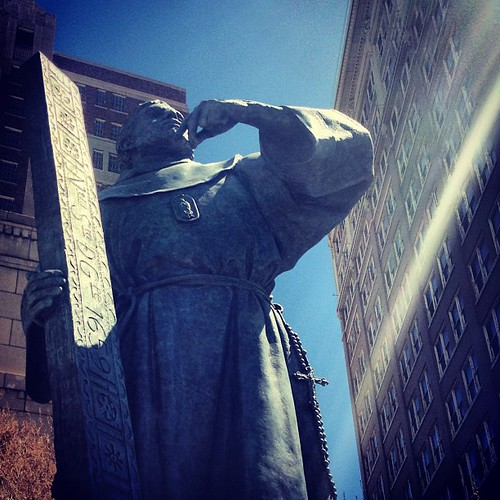 """""""Fray Garcia de San Fransisco, Founder of the Pass of the North by John Houser. This was the 1st completed sculpture of The Twelve Traveler Project. #ElPaso"""" by VisitElPaso is licensed under CC BY 2.0"""