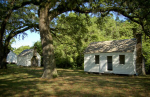 """""""Transition Row"""" on the McLeod Plantation is comprised of several homes and places of worship for the formerly enslaved people. Photo courtesy of McLeod Plantation Historical Site"""