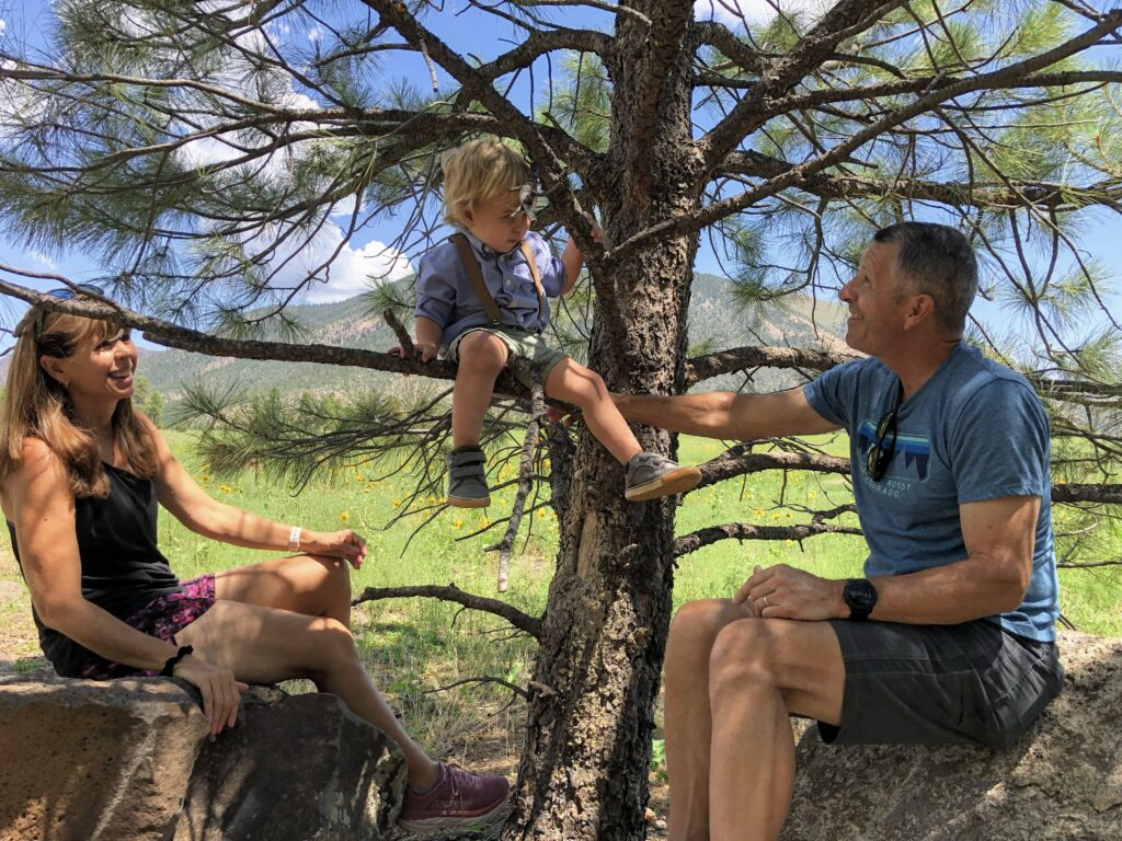 Visitors with their grandson. Photo: Breana Johnson