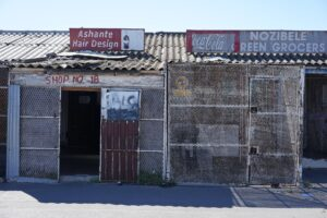 Businesses in a South African township.