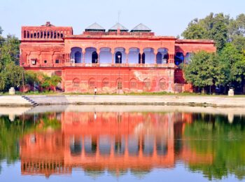 Ancient red house in Lucknow