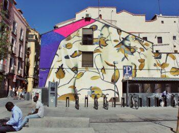 Lavapies neighborhood street art in Madrid