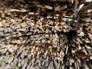 Wood-pile-for-smokehouse