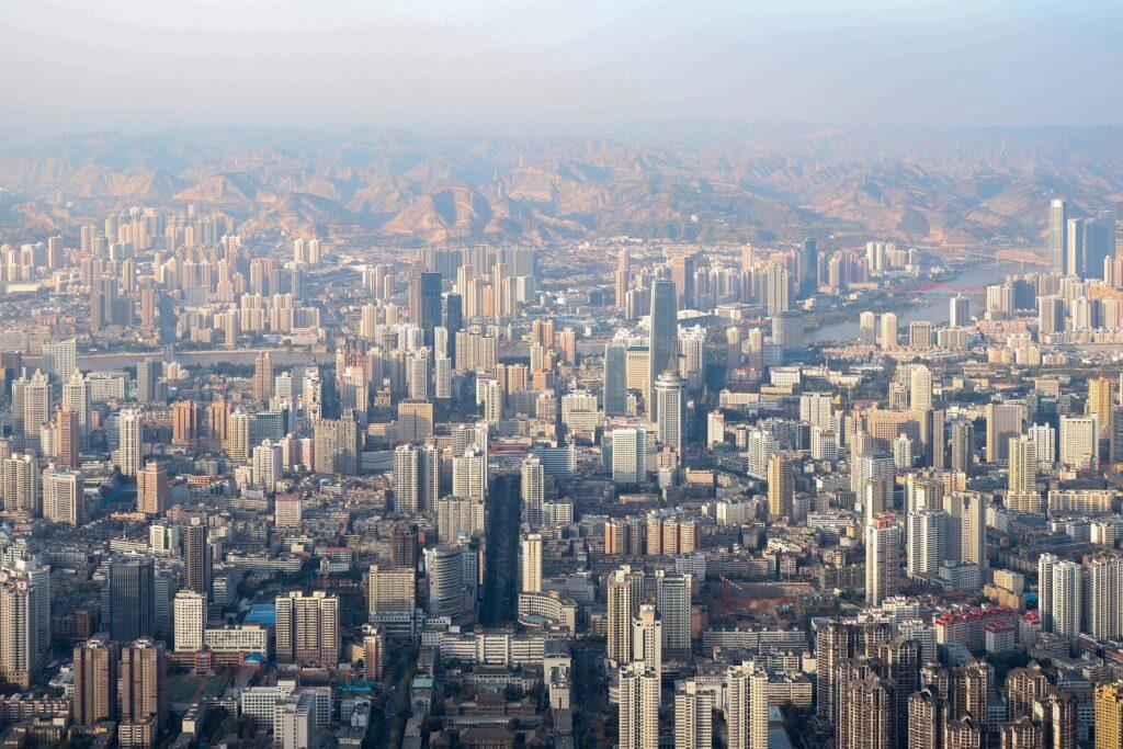 Lanzhou, China city view