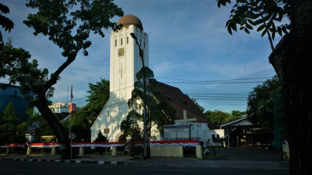 The very first chuch in MEdan named Immanuel church built by Dutch colonialists. Photo: Nayla Azmi