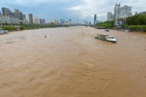 Lanzhou is known for it's Yellow River.